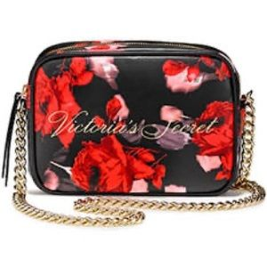 NWT Victoria's Secret Floral Crossbody Purse